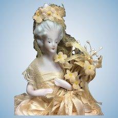 Bisque Half Doll Bride