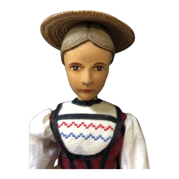 Swiss Wood Carved Doll