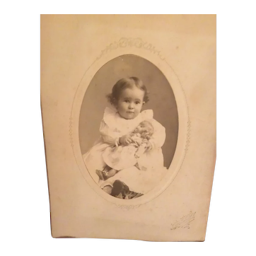 Early Child's Photo with Antique Doll