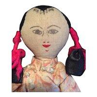 Early Cloth Oriental Doll