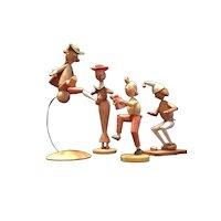 4 German Wood Figures