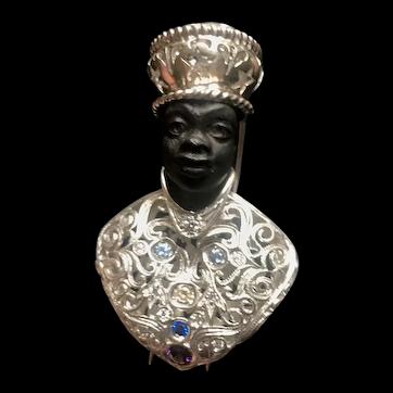 Blackmoor sterling silver brooch