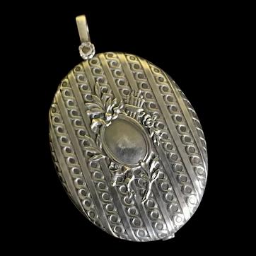 Huge Victorian silver pendant