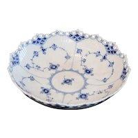Vintage Royal Copenhagen Blue Fluted Full Lace Serving Bowl, Circa 1947