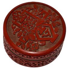 Old Chinese Cinnabar Lacquer  Box