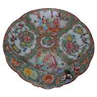 1800's Chinese Export Porcelain Rose Medallion Shrimp Dish