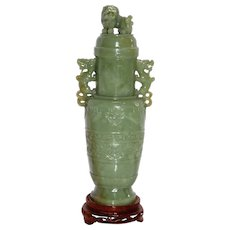 Chinese Jade Archaic Style Vase