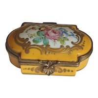 19th Century French Painted Enamel Miniature Box