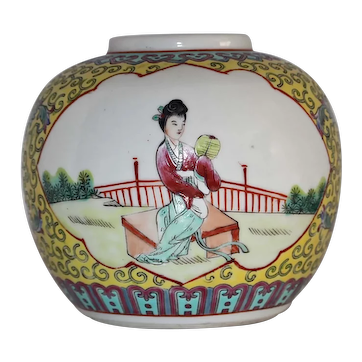 Vintage Chinese Small Porcelain Jar of the