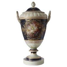 Early 20th Century Large KPM Porcelain Covered Vase