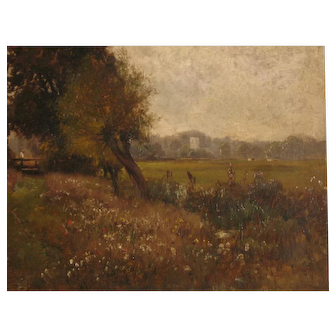 Landscape Oil Painting by Alfred de Breanski Snr