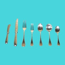 Exquisite French Silver Plated Flatware 56 Pieces by Christofle