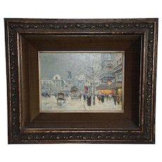 """Oil Painting """"Place de la Republique"""" by Antoine Blanchard"""