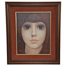"Original Oil Painting ""Melissa"" by Margaret Keane"