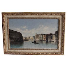Superb Oil Painting of the Grand Canal in Venice by Karl Kaufmann (1843-1901)