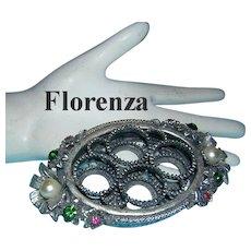 FLORENZA Bejeweled Vanity Lipstick Holder