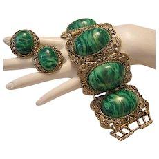 1960's Big BOLD Bodacious Statement Bracelet & Earrings