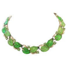 LISNER Luscious Glowing Colors NECKLACE With Rhinestones