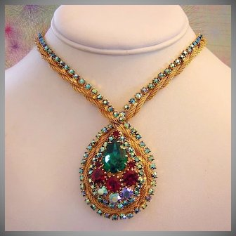 JULIANA Sought After Colorful Rhinestones Necklace
