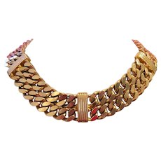 CHRISTIAN DIOR Couture Captivating BOLD Statement Chain Necklace