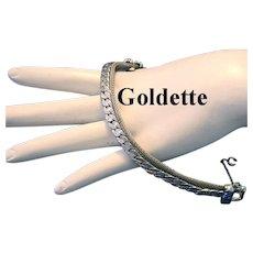 GOLDETTE Silver Tone Braided & Mesh Bracelet