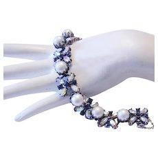 1960's VENDOME Vivacious Rarely Seen Rhinestone Bracelet