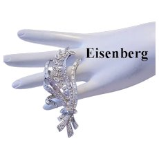 Eisenberg Beyond Brilliant BAGUETTES & Rhinestones Eye Catching Pin / Brooch