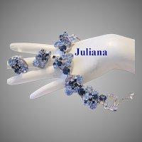 JULIANA Impressive Color RHINESTONES Dimensional Bracelet & Earrings