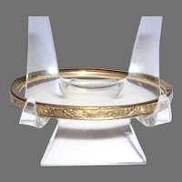 Early 1970's Etched BABY Cuff Bracelet