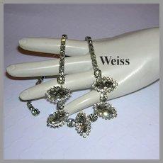 WEISS Black Diamond Rhinestone Necklace With HALO's