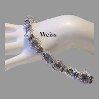 WEISS Black Diamond RHINESTONES Bracelet With Halo's