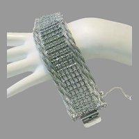 1973 RUNWAY Dramatic ALLURING Rhinestones WIDE Bracelet