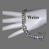 WEISS Brilliant BAGUETTE Diamond Look Rhinestones Bracelet