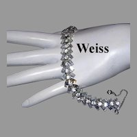 WEISS Brilliant BAGUETTE Diamond Look Rhinestones Bracelet
