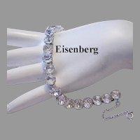 EISENBERG Signed  Rhinestone BRILLIANT Tennis / LINE Bracelet