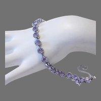 LAVENDER / Light Amethyst RHINESTONE Tennis Bracelet