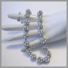 1972 RHINESTONE Studded Sassy DISCO Ball Brilliant Necklace