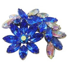 1960's MAJESTIC Color & Amazing SPARKLE Dimensional PIN / Brooch
