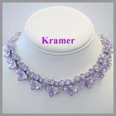 KRAMER Color Changing ALEXANDRITE Rhinestones & Crystals Necklace