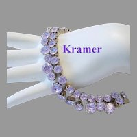 KRAMER So Rare Color Changing ALEXANDRITE Rhinestones Bracelet