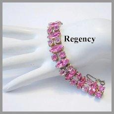 REGENCY 2 Shades Of PINK Rhinestones Bracelet