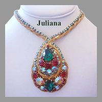 JULIANA Dazzling Sought After BOOK PIECE Rhinestone STATEMENT Necklace