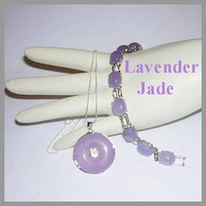 LAVENDER JADE Reversible Necklace & Bracelet