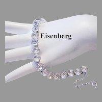EISENBERG Signed Big Rhinestones BRILLIANT Tennis / LINE Bracelet