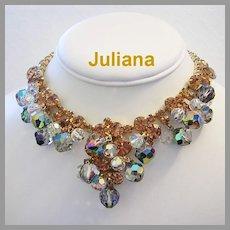 JULIANA Shimmering Dangling CRYSTALS & Rhinestones Necklace