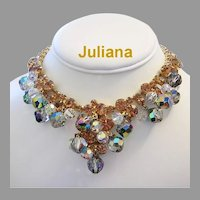 JULIANA Shimmering Dangling CRYSTALS & Rhinestones Necklace