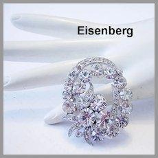 EISENBERG Exquisite Brilliant Rhinestones Pin / Brooch