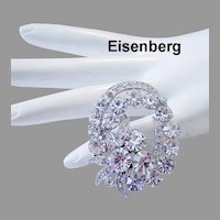 EISENBERG Exquisite Brilliant Rhinestones Pin / Brooch