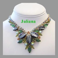 JULIANA Book Piece SCOOPED Out Decadent Rhinestone Necklace