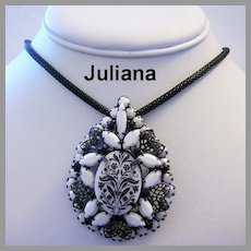 JULIANA Book Piece Floral TRANSFER Pin / Pendant